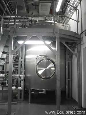 Briggs Giusti 316 L Stainless Steel 7000 Litre Purified Water Vertical Holding Vessel