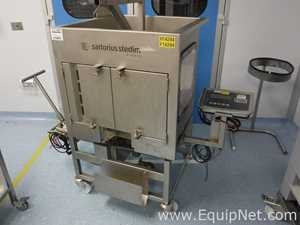 Stedim FXC 114155 200 Litre 304 L Stainless Cubicle Bottom Mixer Weighing Pallet Tank