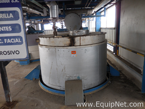 Stainless Steel 10000 L Tank with Internal Coil and Lining for Thermal Insulation
