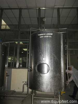 4000 Litros Stainless Steel Mixing Tank