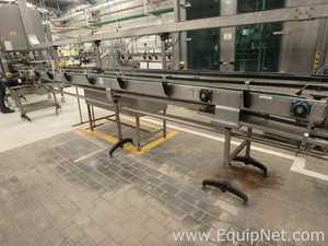 Stainless Steel Straight Conveyor with Plastic Slats