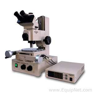 Olympus STM Trinocular Tool Maker's Inspection XY Measuring Microscope 100X