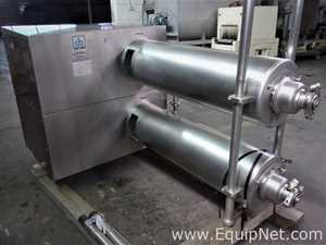 Waukesha Cherry Burrell Stainless Steel 6 X 48 Twin Tube Thermutator SCRAPED SURFACE HEAT EXCHANGER