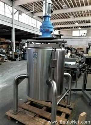 Cherry Burrell Stainless Steel Sanitary 100 Gallon Jacketed Scrape Agitated Kettle