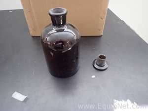 Unused Box of 24 Bottle Reagent Amber Apothecary Jar Glass 1000 ml