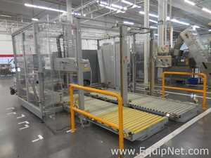 Cermex P92210 Palletizer for Collective Case with Infeed and Outfeed Driven Roller Conveyors