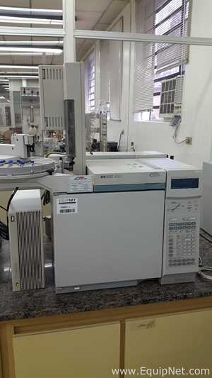 Hewlett Packard 6890 Gas Chromatograph with Autosampler Controller and Injector