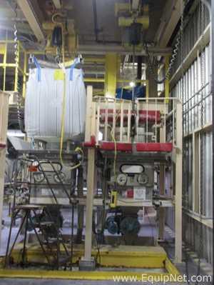 Dynamic Air Bulk Buster Bag Dump Station With 4000 LB Bag Hoist