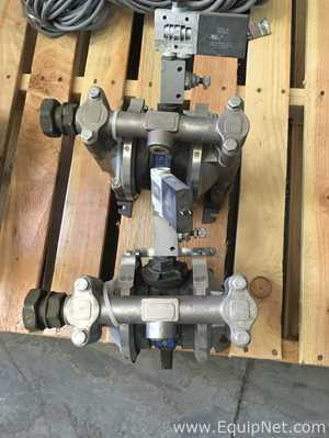 Lot of 2 Verder Air Stainless Steel Diaphragm Pumps