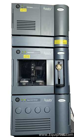 UPLC Waters Acquity PDA Detector, Binary Solvent Manager, Sample Manager