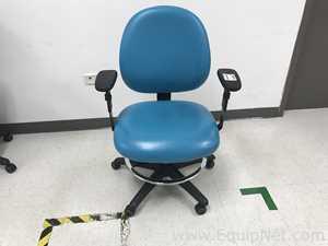 Two Ergonomic Lab stools Chairs