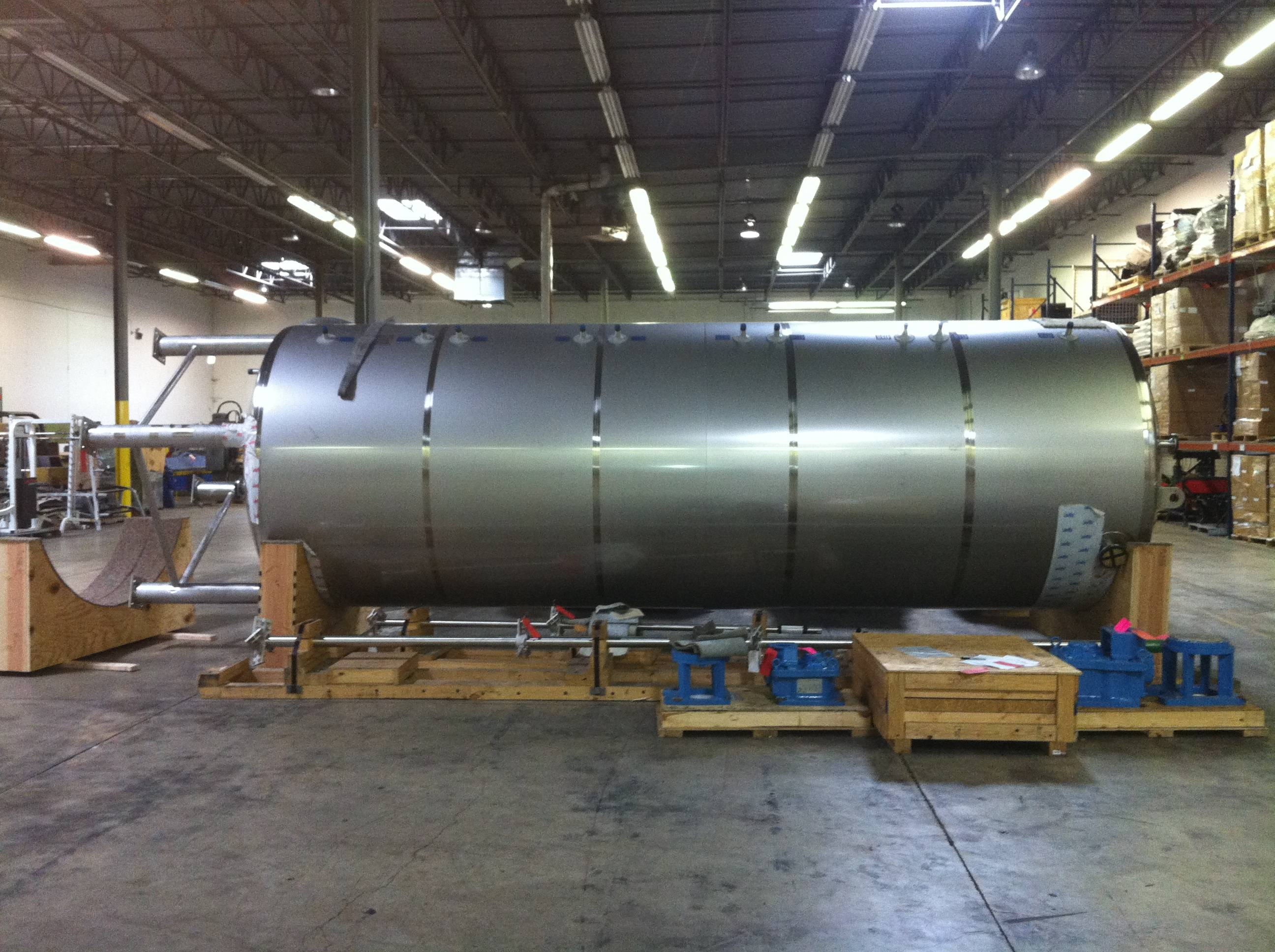 Unused Paul Mueller Company 5,800 gallon Stainless Steel Jacketed Mixing Vessel