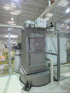 Stainless Steel Receiver with Bin Vent and Vibratory Conveyor