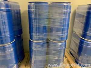 100 Greif Inc. 30 Gallon Open Head Plastic Drums with Lids