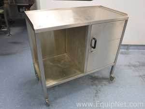 Stainless Steel Mobile Work Station with Storage - Line 9