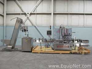 Capmatic RR288M-8H 8 Head Continuous Motion Capper With Unscrambler And Elevator Hopper