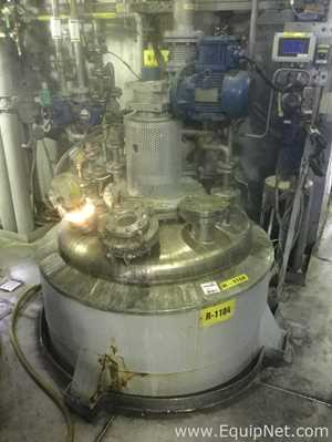 750 Liter Gold-Bar Engineering LTD. Hastelloy Jacketed Agitated Reactor