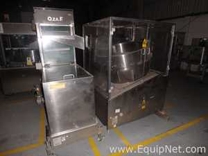 Ozaf RO 1000 Bottle Orienter with Ozaf E 40.93 Bottle Elevator Conveyor