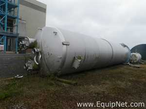 Unused Pontifex 100 Cubic Meters capacity 316L Stainless Steel Vertical Unjacketed Receiving Vessel
