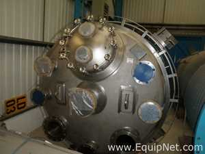 Unused Sinclair 6.8 Cubic Meters 316L Stainless Steel Limpet Coil Heated Crystaliser Mixing Vessel