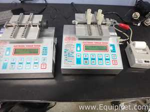 Lot of 2 Kaps-All Packaging Systems EB-650 Electronic Torque Meters with Printer