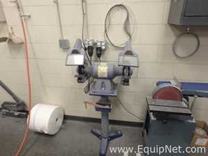Baldor Dual Head Grinder with Wire Wheel and Stone