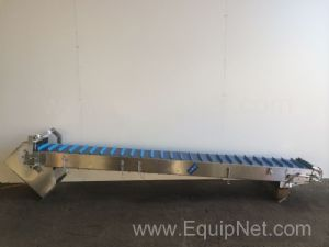 NNP Stainless Steel Flighted Belt Conveyor