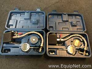 Lot of 2 Fowler Chrome Flex Mag and Indi-X Blue Electronic Indicator Set
