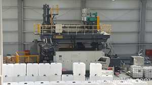 Complete Kingswel Baodie FT1500 IBC Blow Molding and Cage Welding Line For Plastic Totes and Cages