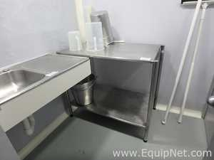 Lot of Stainless Steel Accessories for Pharmaceutical Production Areas