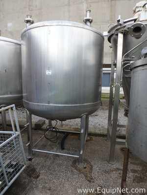 Stainless Steel 3,000 Liter Vertical Single Wall Mixing Tank