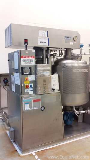Trevisin PCTV 500 Stainless Steel 500 Liter Jacketed Reactor Tank with Upper and Lower Agitation