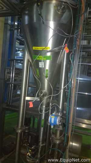 SPX Flow R125T-45 High pressure 5000LPH Homogenizer with Deaerator-2 Mixers-1 Buffer Tank System