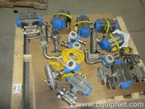 One Skid Of Miscellaneous Sanitary Control Valves
