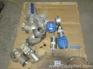 One Lot Of Miscellaneous Sanitary Control Valves And Couplings