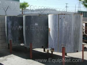 Lot of 3ea 337 Gal Stainless Steel Jacketed Tank