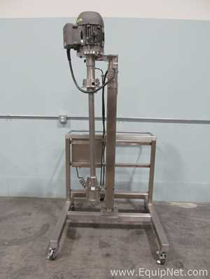Quadro Engineering Inc. Y2 Stainless Steel Low Shear In-Tank Jet Mixer With Pneumatic Lift Stand