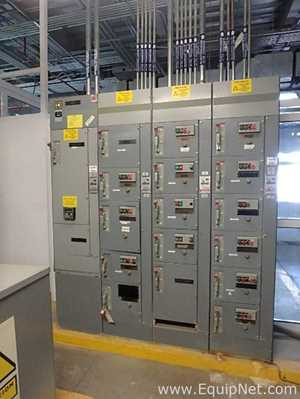 Square D 6 Motor Control Center with 4 Sections
