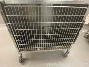 Lot of 2 Stainless Steel Animal Transport cages
