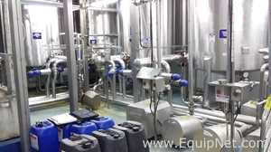 Complete CIP System with Tanks Valves and Pumps