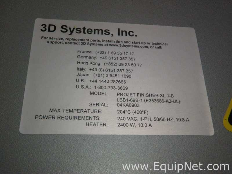3D Printer from 3D Systems Corporation Listing #610783