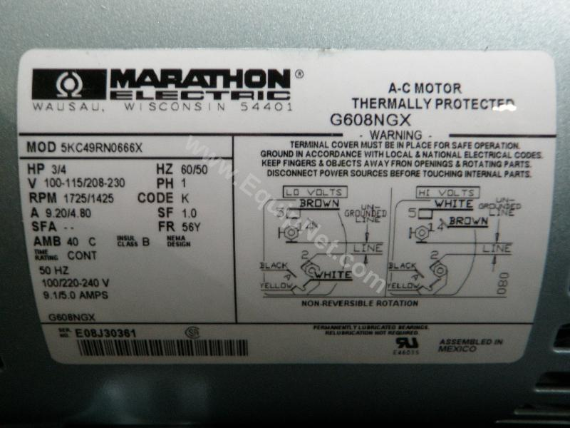 Marathon Electric Motor Wiring Diagram - Database