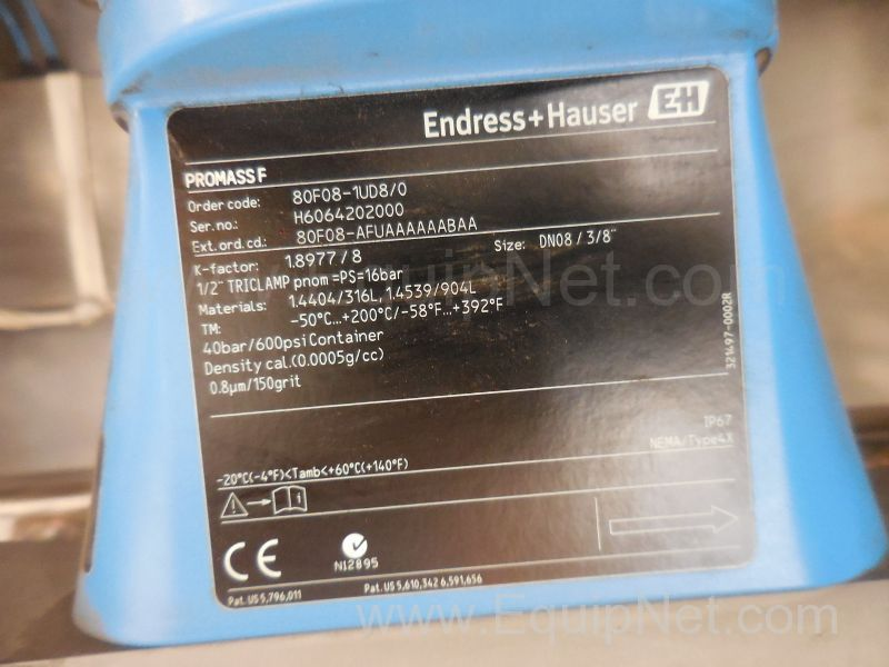 Flow Meters from Endress and Hauser Listing #468440